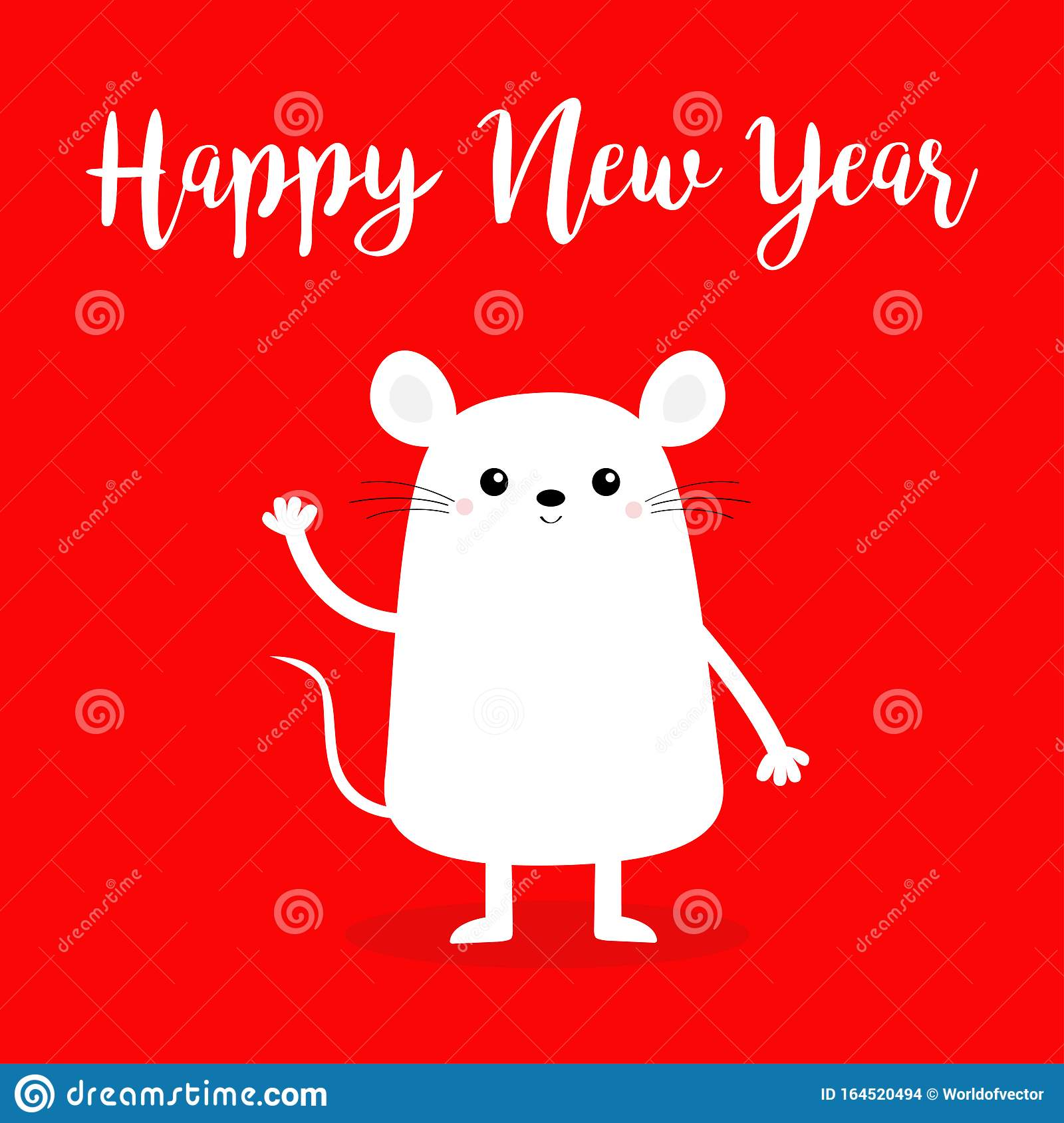 Southwest Merry Christmas And Happy New Year 2020 Pictures Free Happy New Year 2020 Sign Symbol. White Mouse Waving Hand. Merry