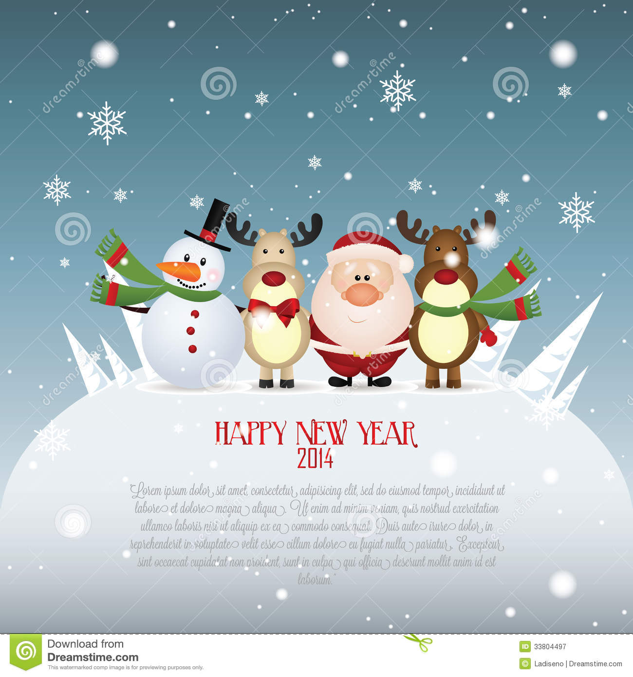 Happy new year stock vector image of present glitter