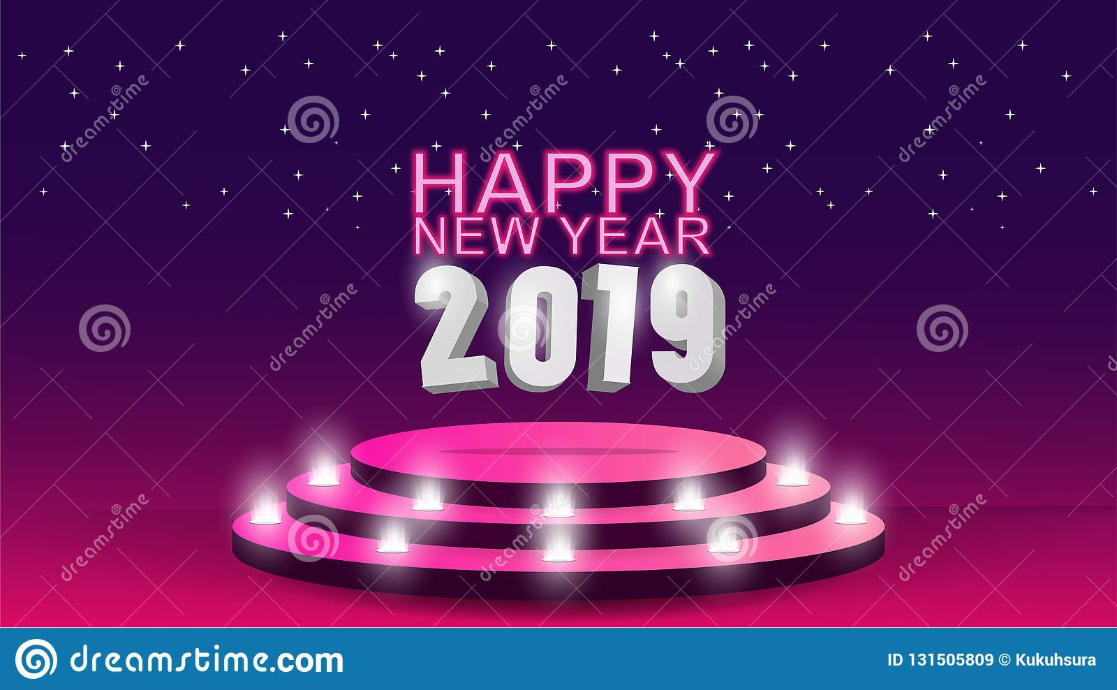 2019 happy new year template with creative background design for your greetings card invitation