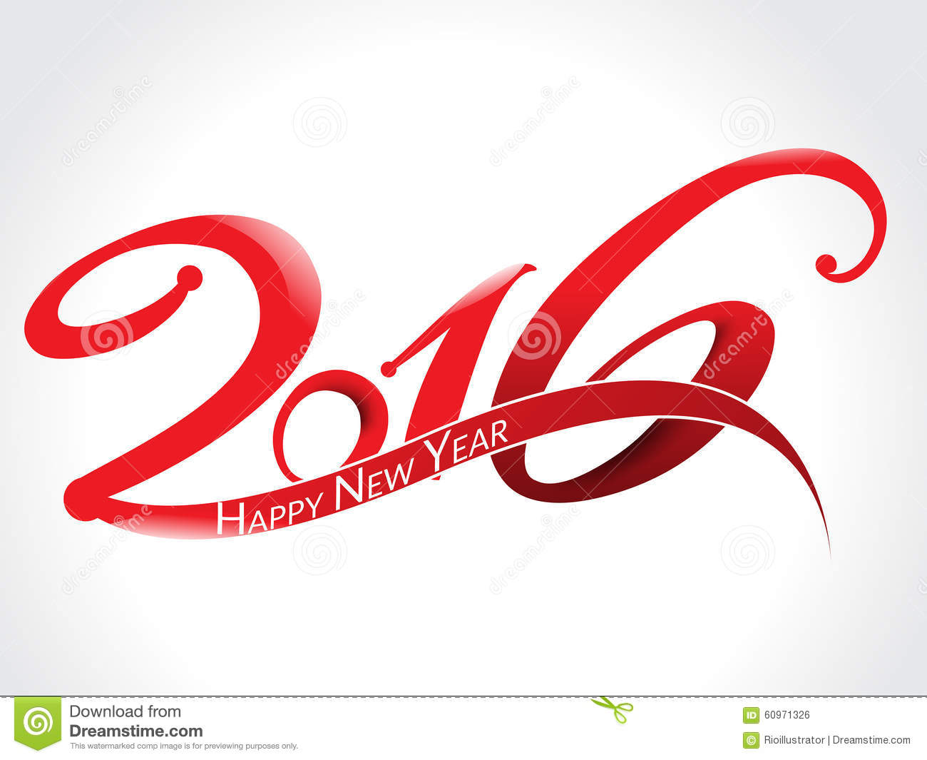 happy new year 2016 text background stock vector