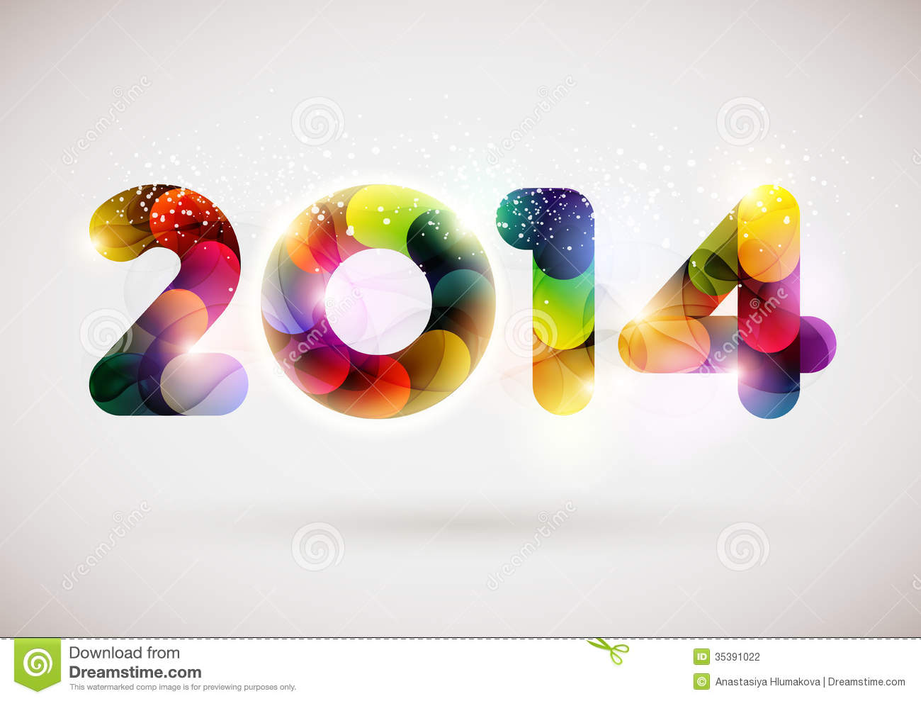 happy new year 2014 stock vector illustration of flake 35391022
