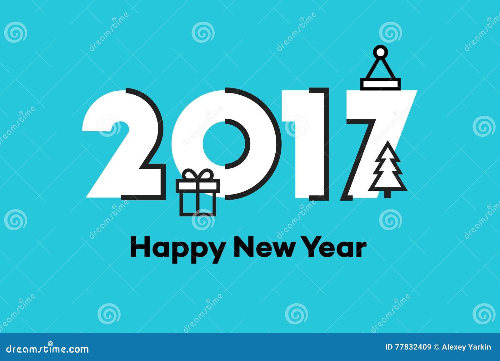 Happy New Year Flat Design 11