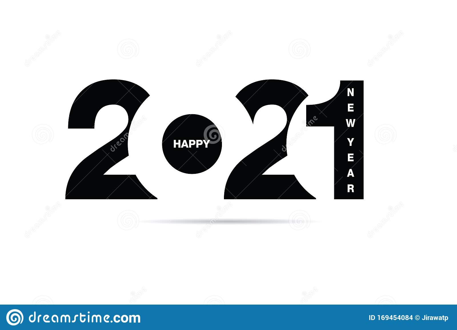 Happy New Year 2021 Text Design Vector Eps 10 Stock Vector Illustration Of Graphic Decoration 169454084