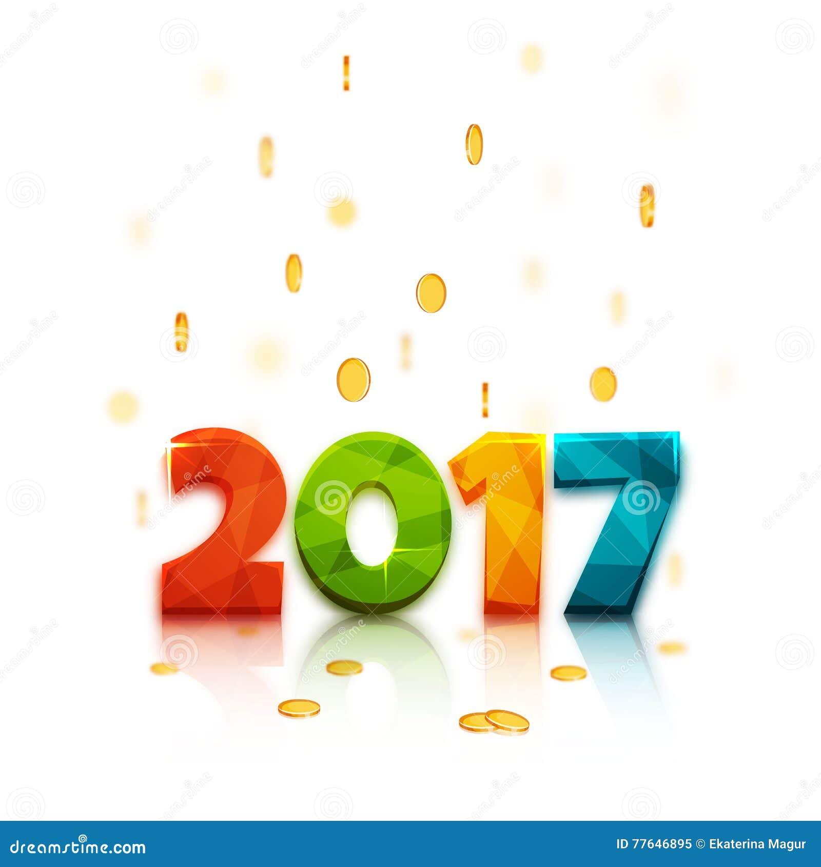 happy new year 2017  text design  vector illustration stock vector