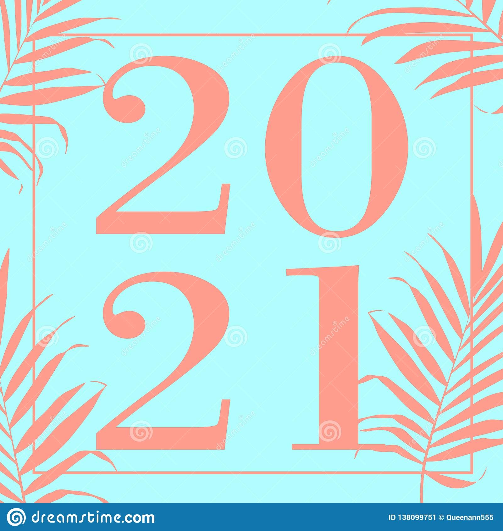 Happy New Year 2021 Text Design Vector Illustration ...