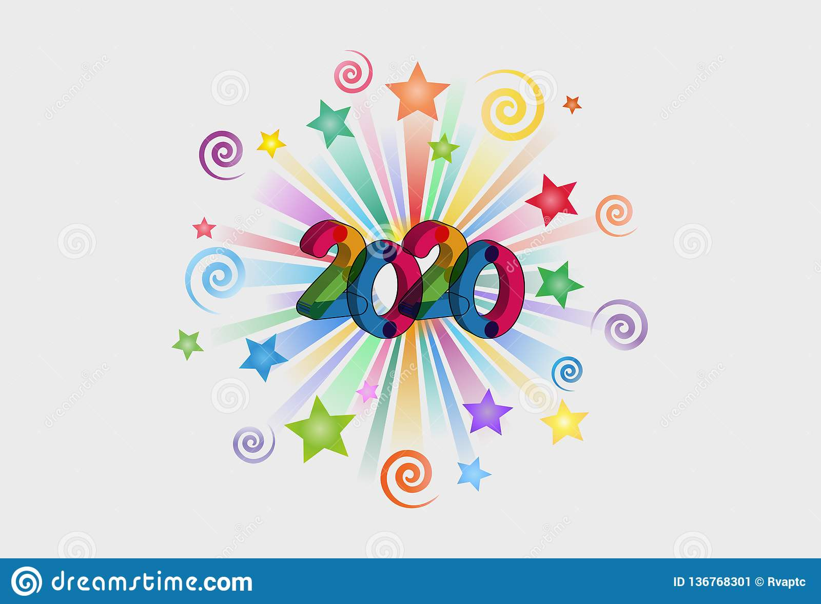 Happy New Year 2020 Text Effect PNG