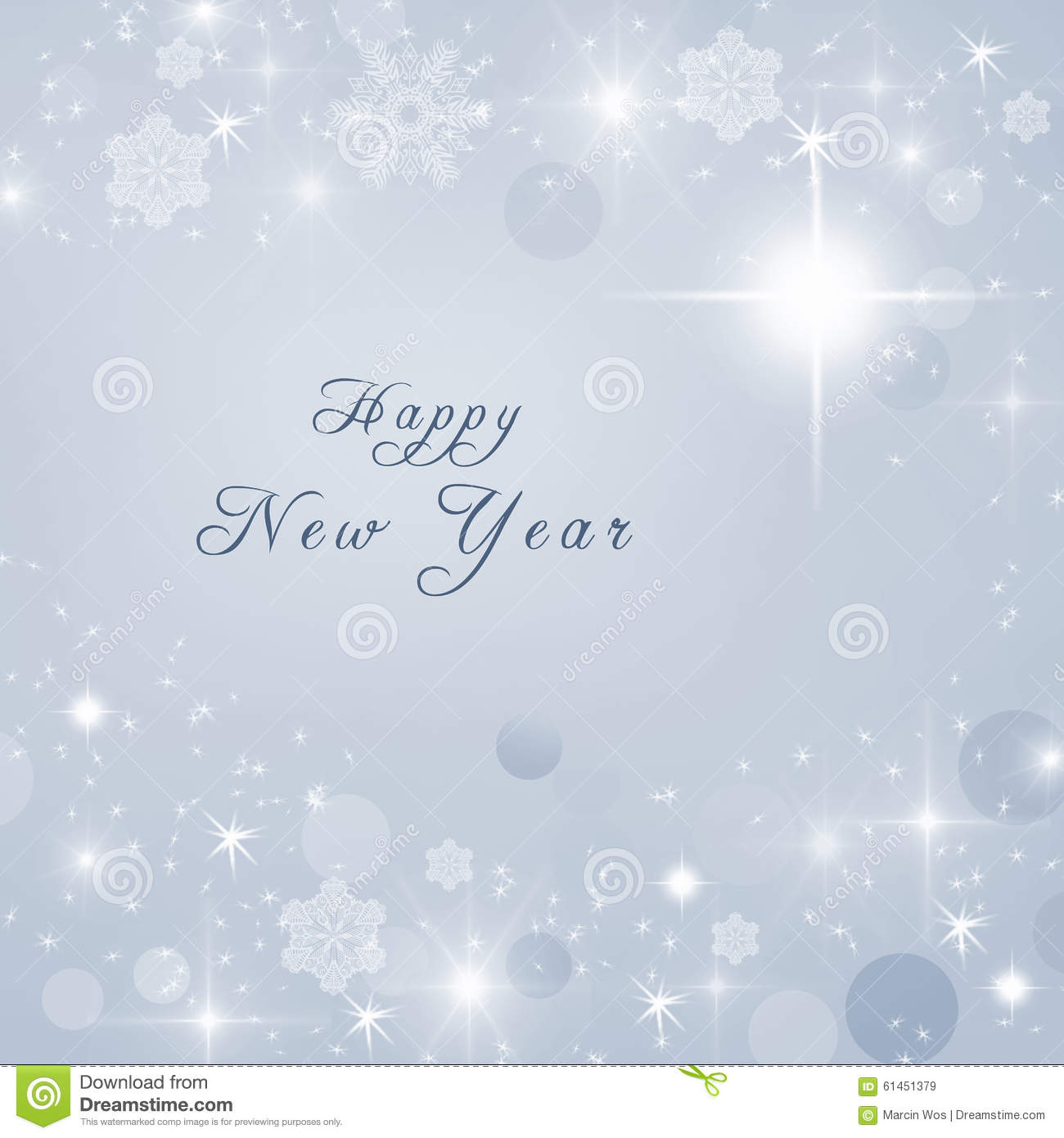 happy new year text written on grey bright sparkly winter background new year card