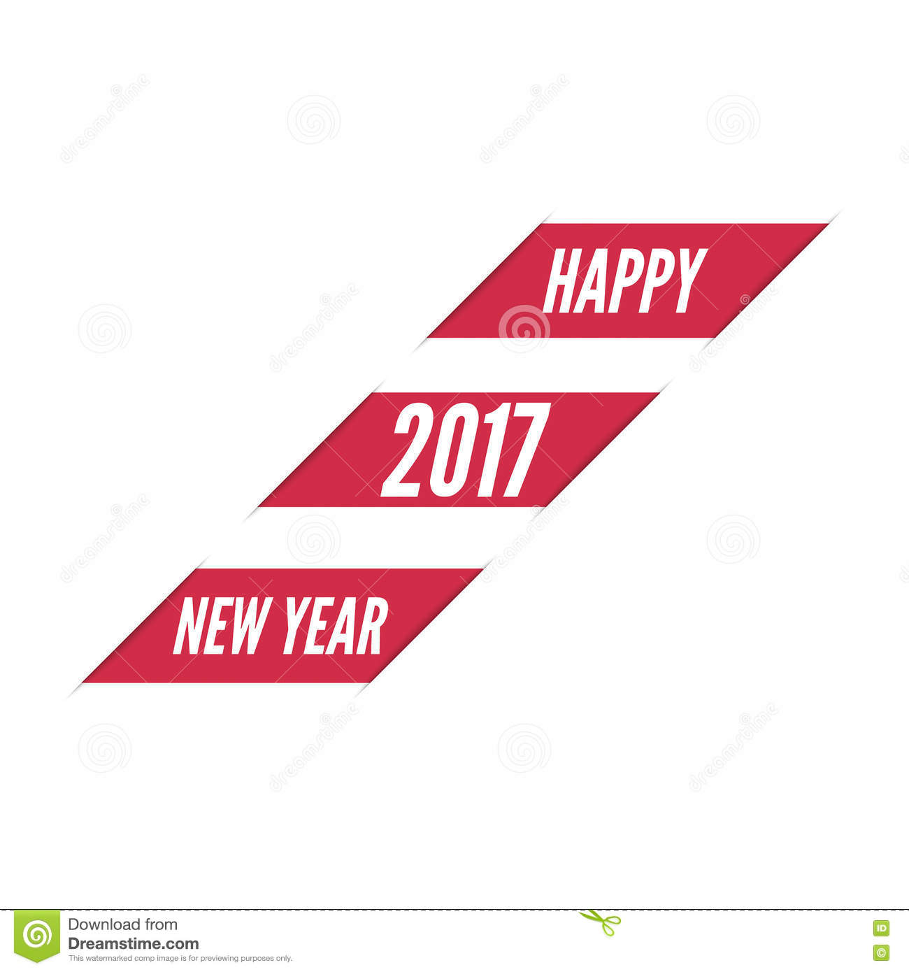 Happy new year 2017 theme stock vector. Image of ...