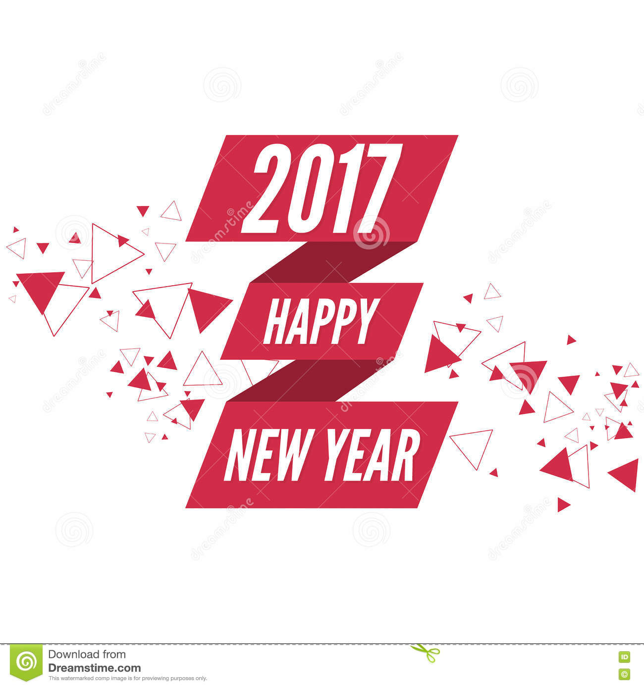happy new year 2017 theme stock illustration