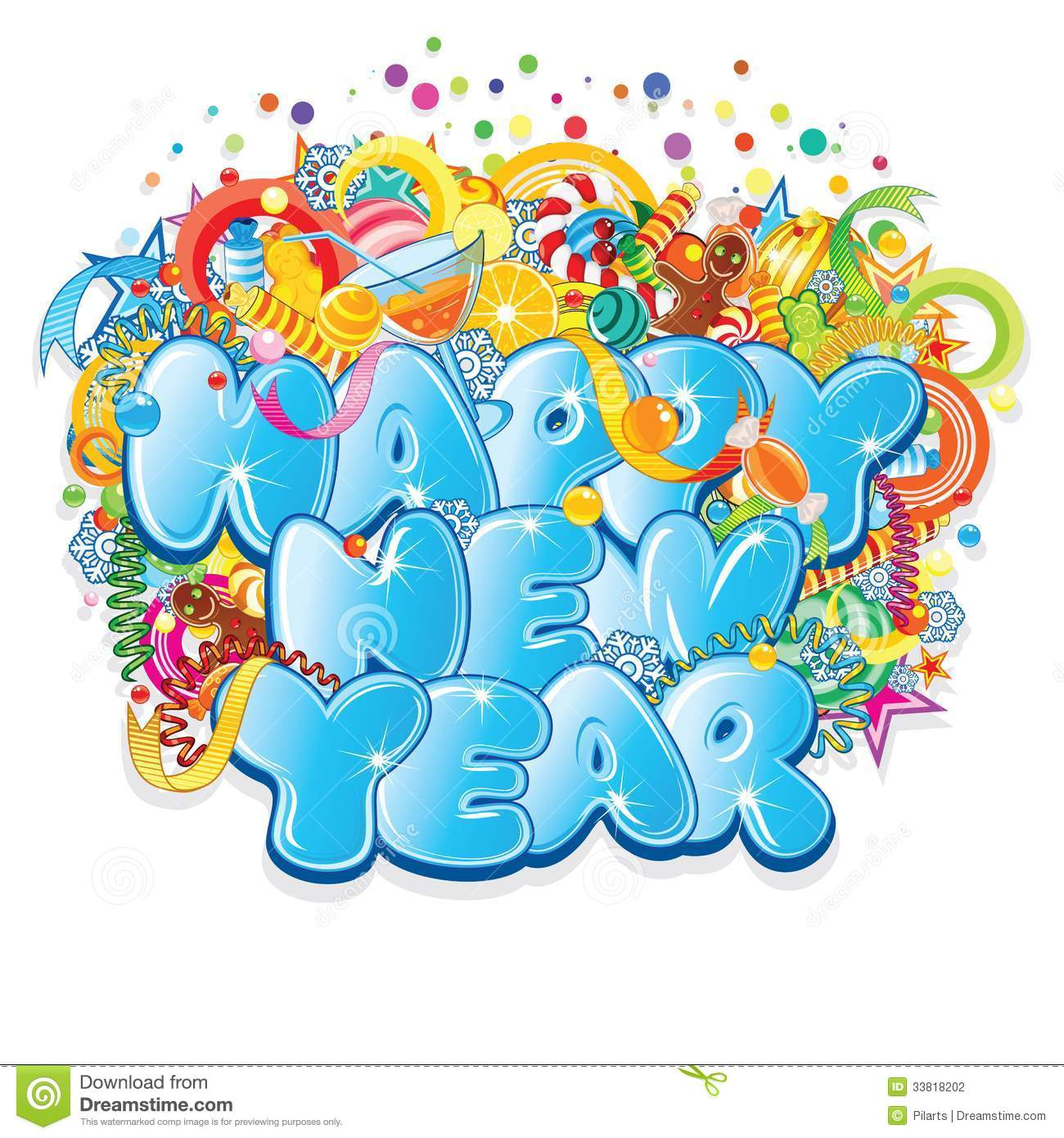 Happy New Year Title. Vector Design Stock Photography ...