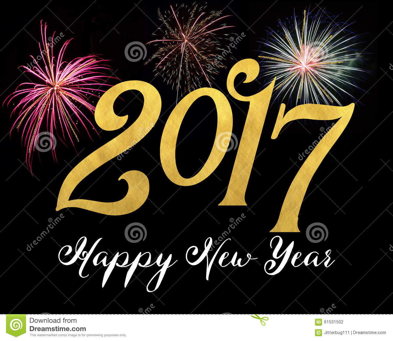 Happy New Year 2017 Stock Photo - Image: 61531502