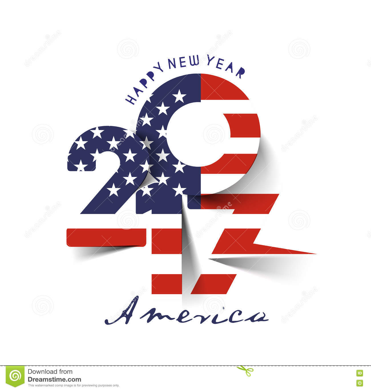 Happy New Year 2017 With U.S.A Flag Pattern Stock Vector ...