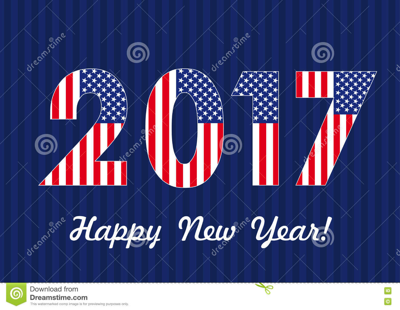 2017 happy new year usa banner stock vector illustration of