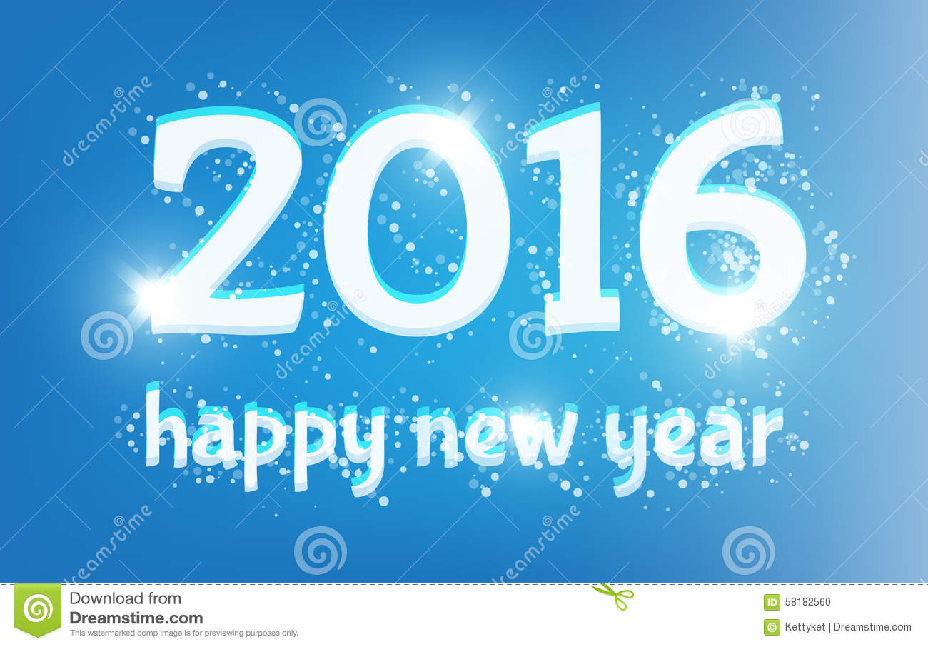 Happy New Year. 2016. Stock Vector - Image: 58182560