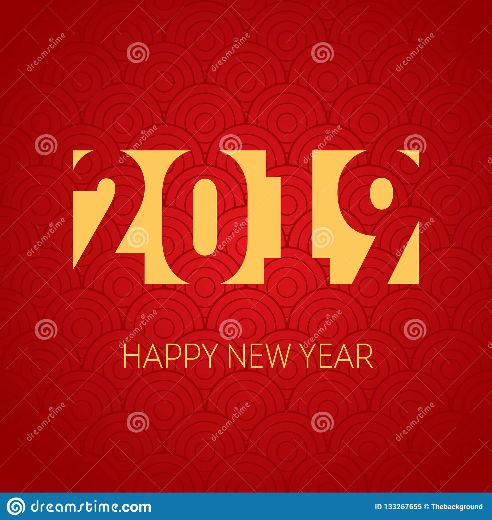 happy new year 2019 vector background cover of business diary