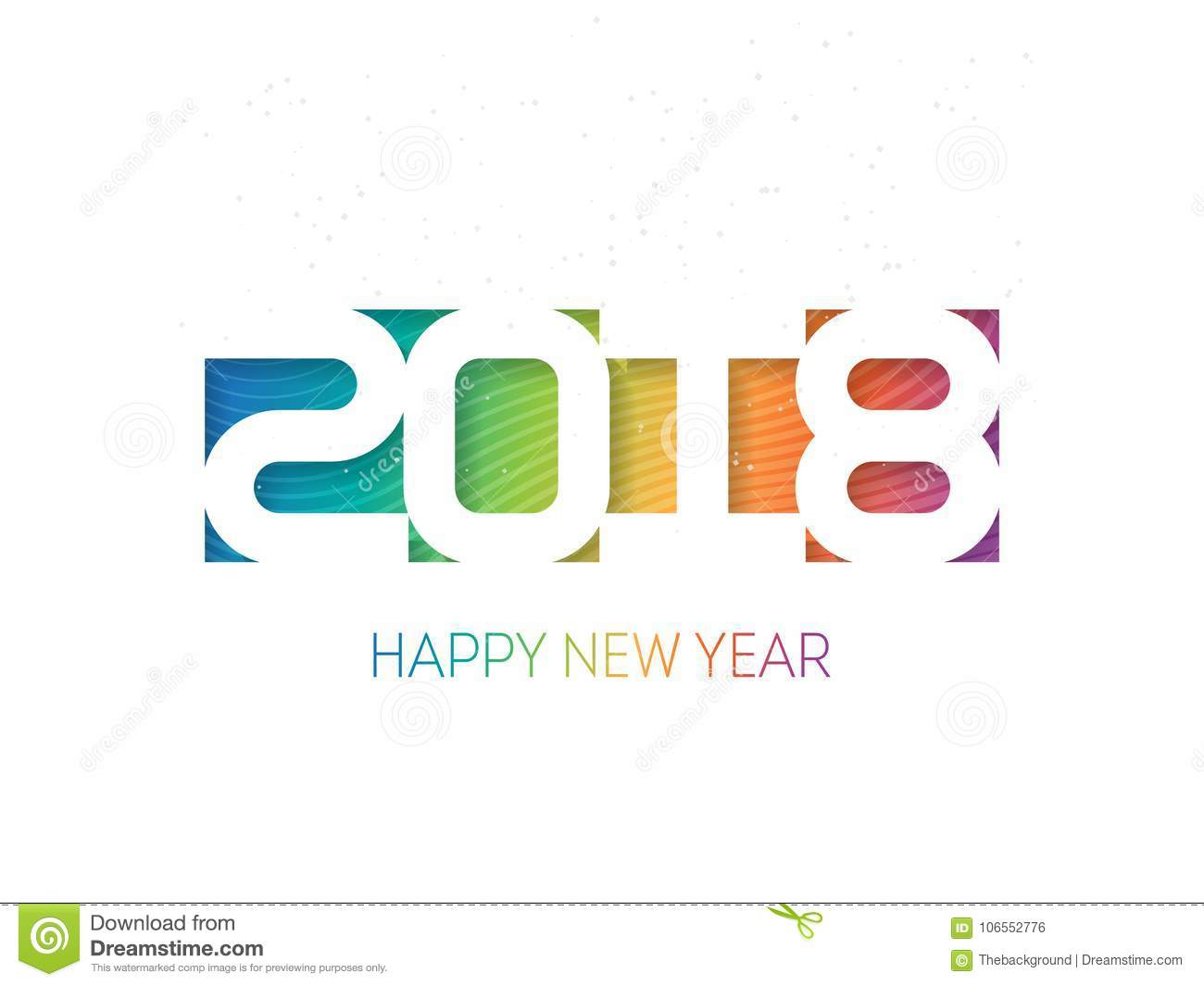 happy new year 2018 vector background cover for the calendar or