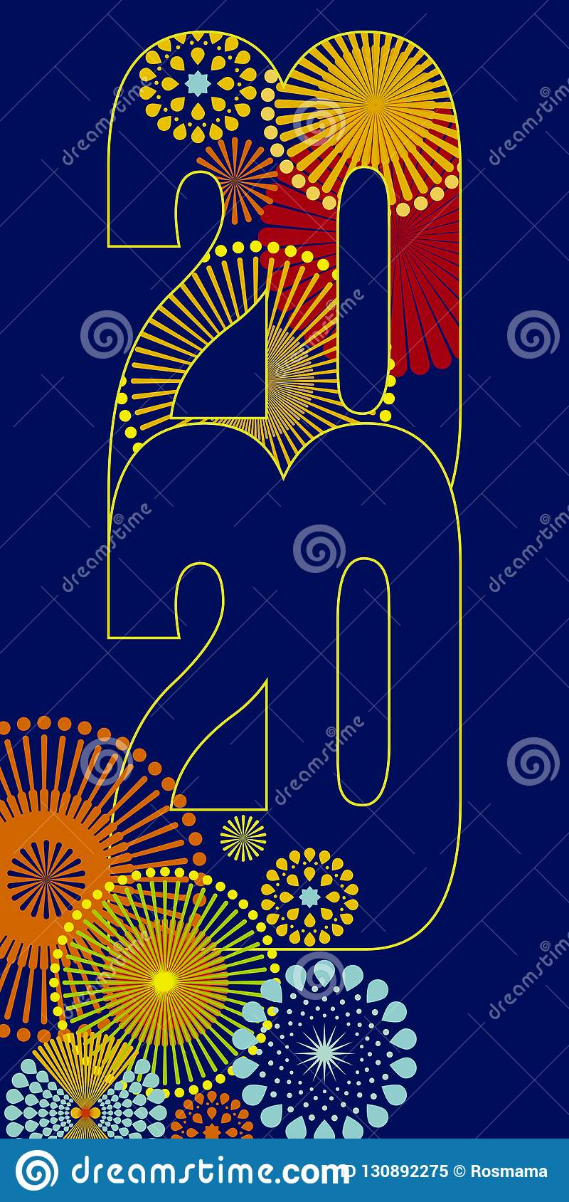 Merry Christmas 2020 Cover Happy New Year 2020 Vector Background Stock Vector   Illustration