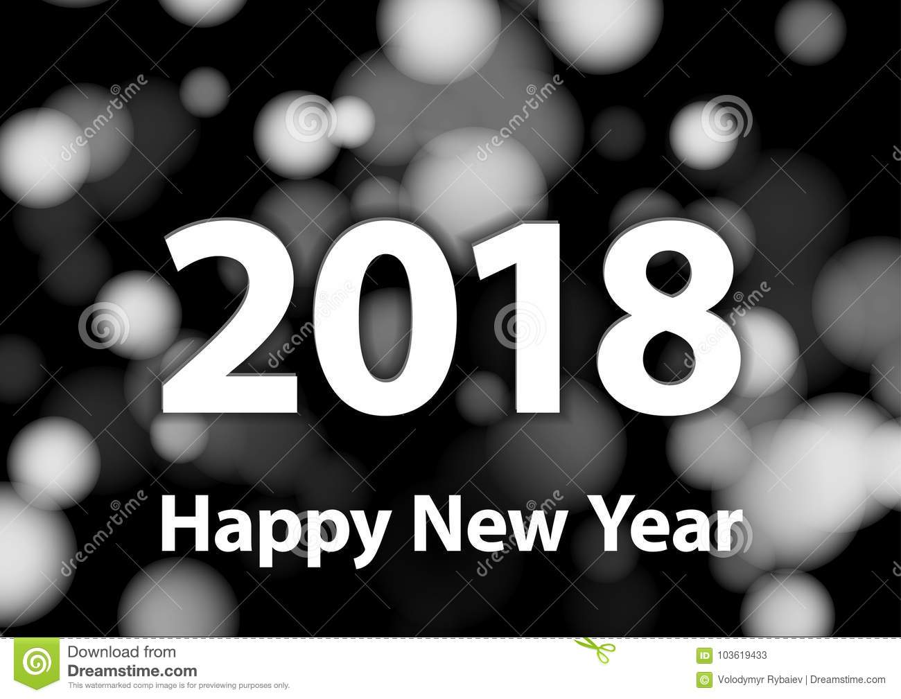 Great 2018 Happy New Year Vector Background With Silver Glitter Numbers. Festive  Retro Poster With Shimmering Texture. Glittering, Holiday.