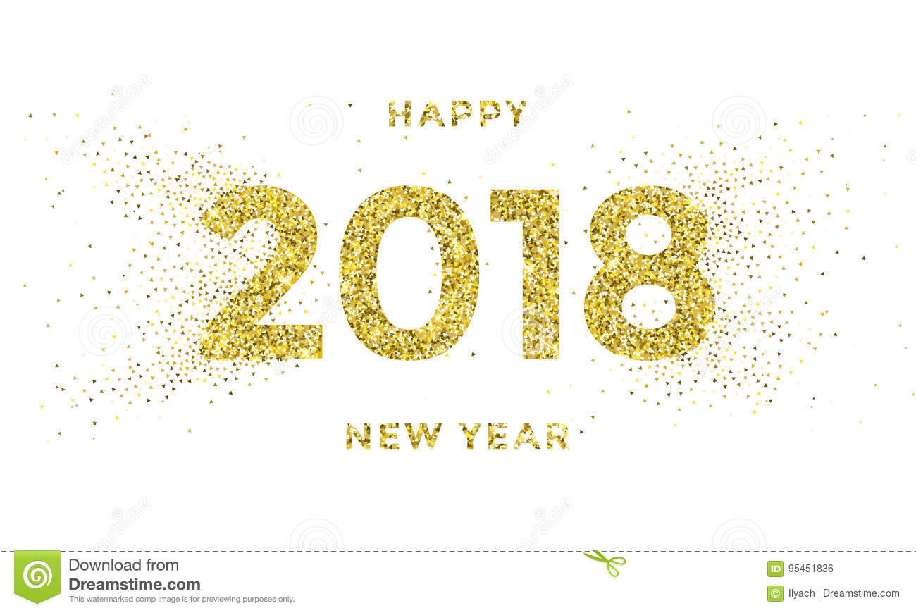 2018 happy new year vector background with silver snowflakes pattern