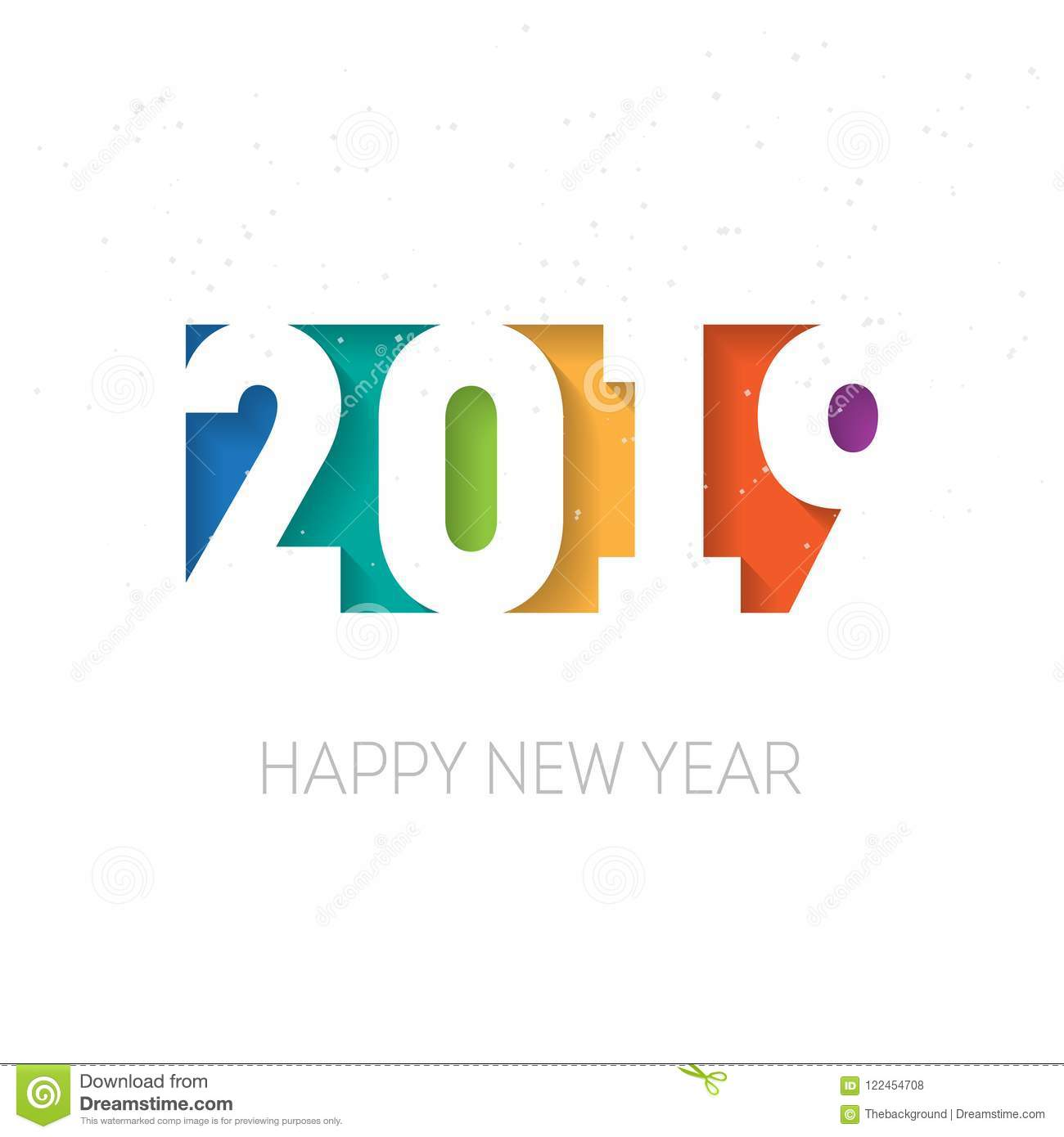 happy new year 2019 vector background vector greeting card des