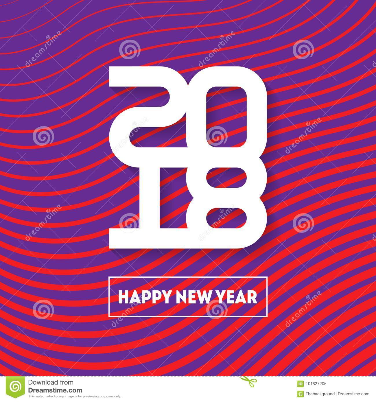 happy new year 2018 vector brochure design template cover of b