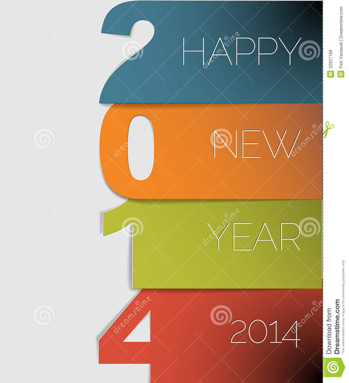 Happy new year 2014 vector card stock vector illustration of happy new year 2014 vector card kristyandbryce Images