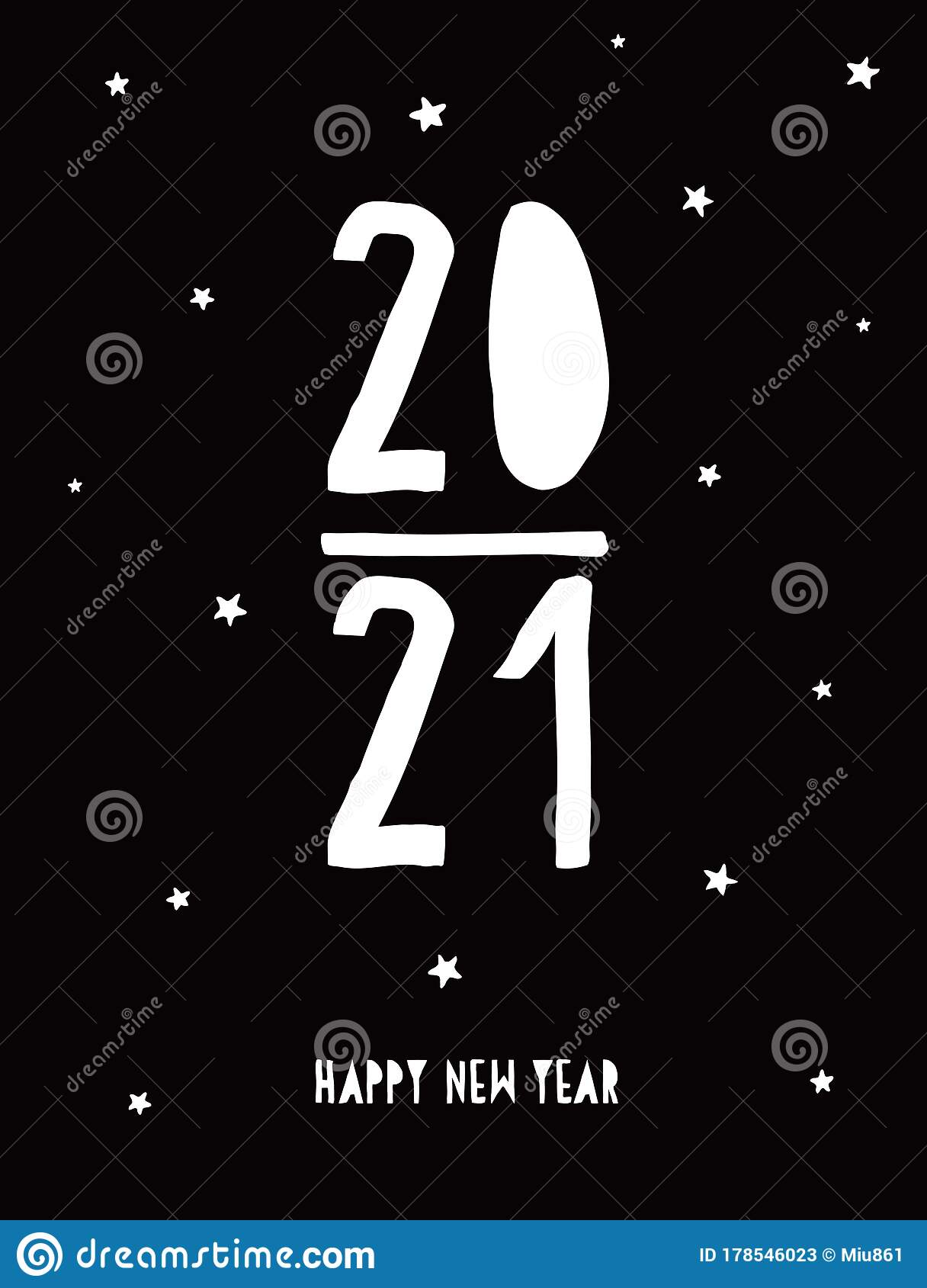 Happy New Year Vector Card. 2021. Stock Vector ...