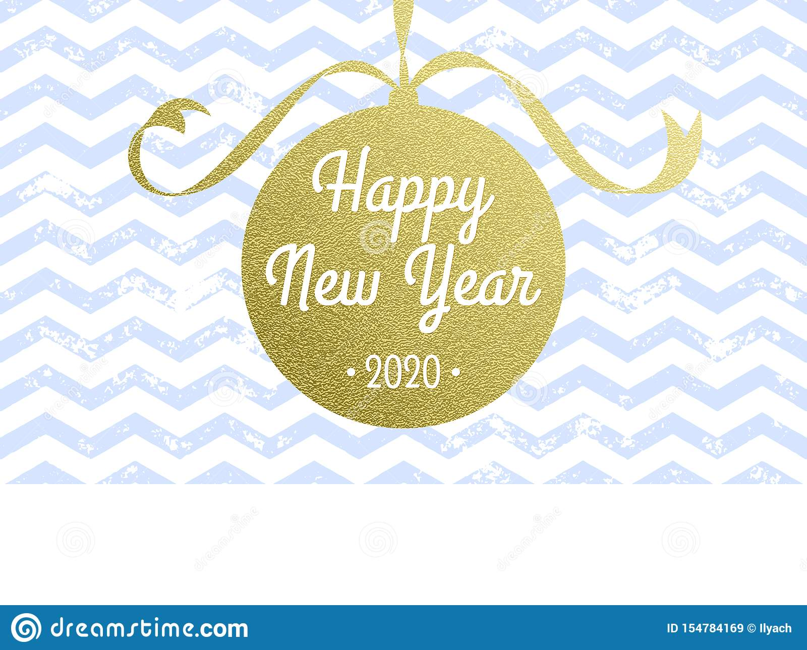 Happy New Year 2020 Vector Greeting Card Of Vector ...