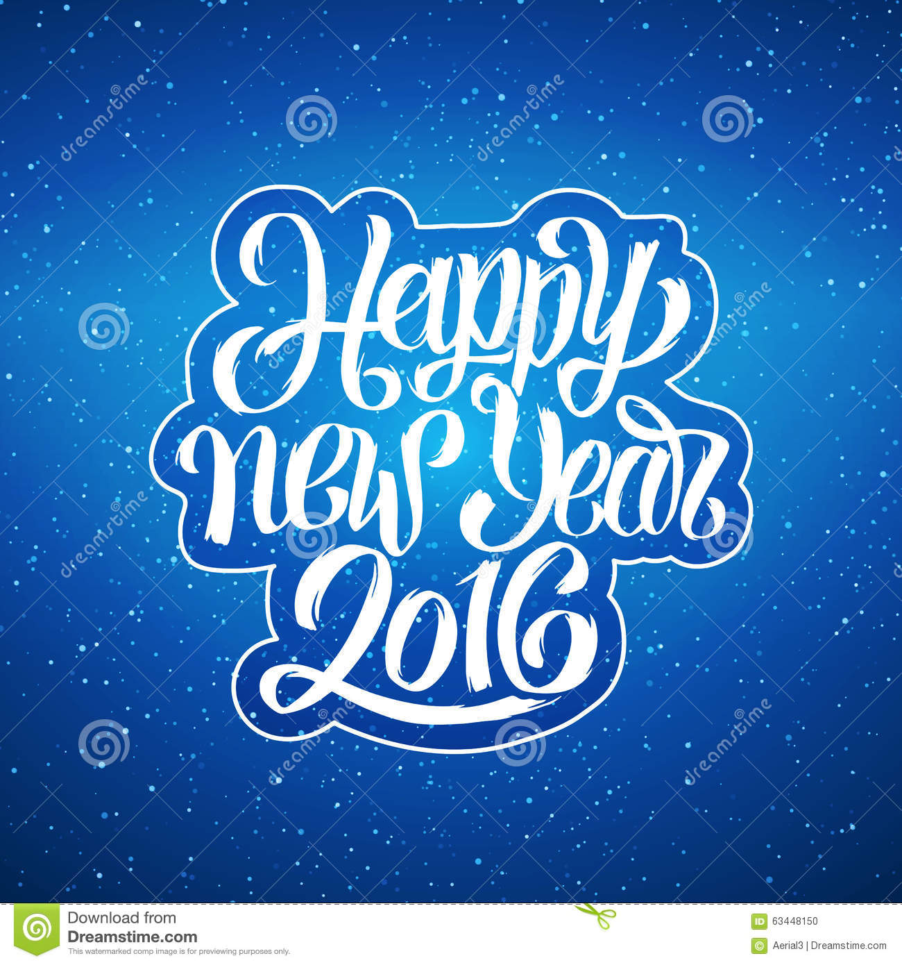 happy new year 2016 vector greeting card stock vector - image