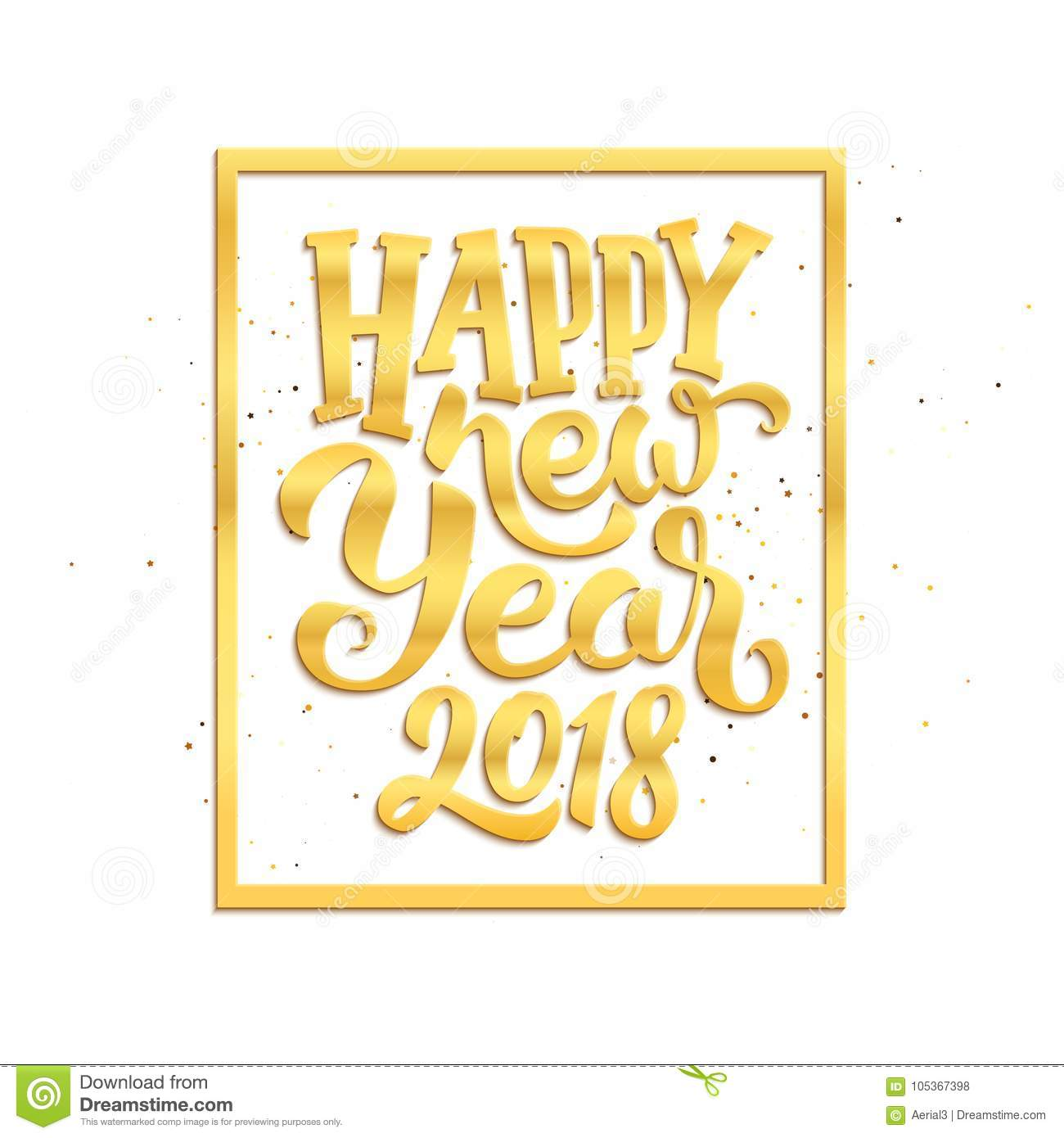 happy new year 2018 vector greeting card design