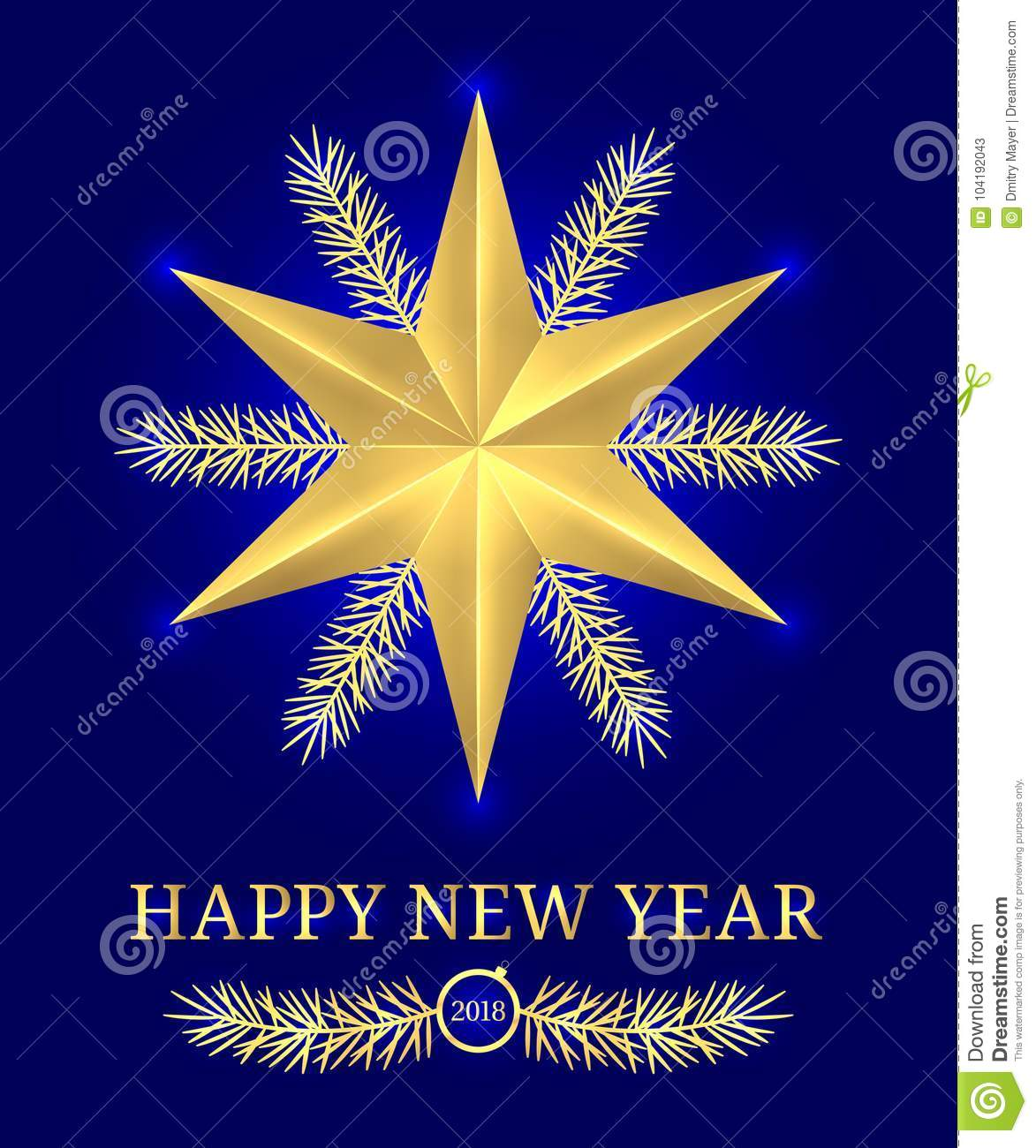 download happy new year 2018 vector holiday banner stock vector illustration of golden