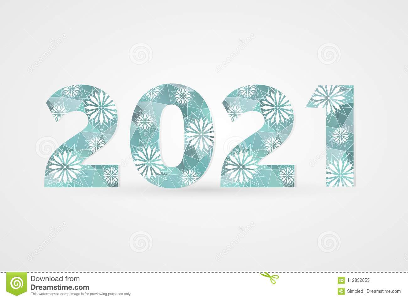 2021 Happy New Year Vector Illustration. Winter Holiday ...
