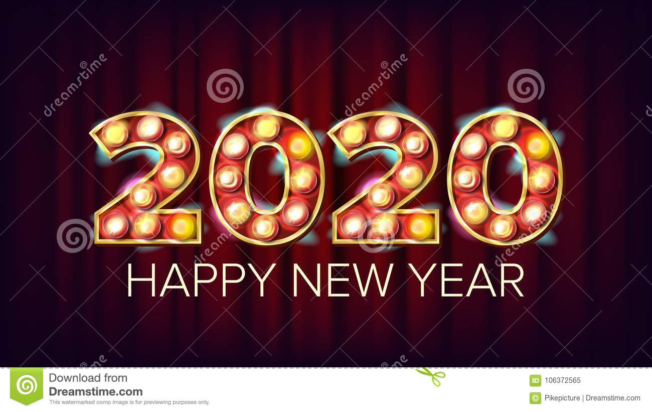 Pic of wishing happy new year 2020