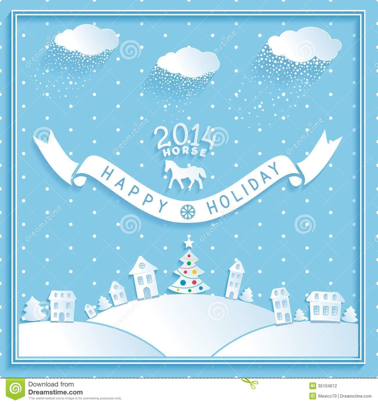 Winter holiday greeting cards cute snowman stock vector image of winter holiday greeting cards download m4hsunfo