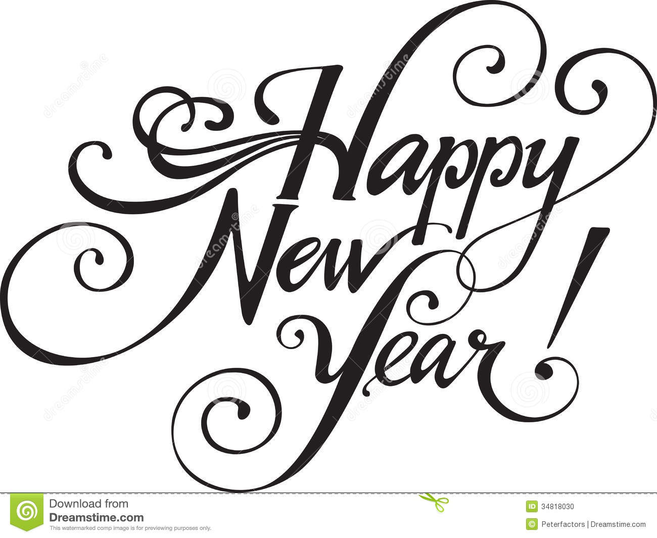 Happy New Year 2015 Clip Art Black And White | New Calendar Template ...