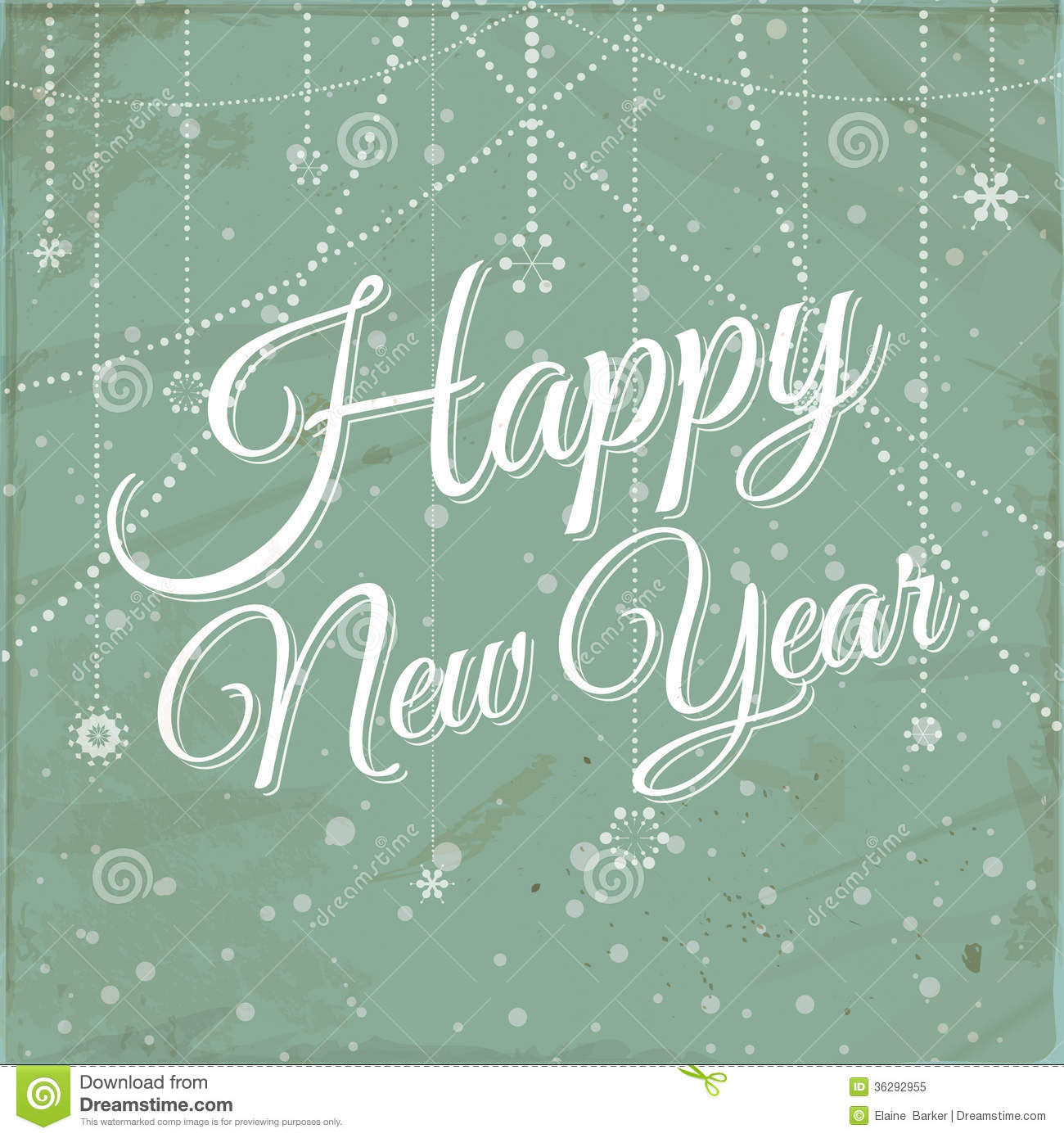 Happy New Year Vintage Background Stock Vector ...