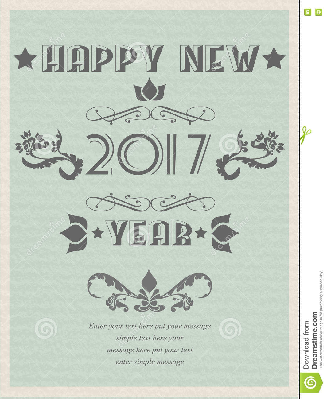 2017 Happy New Year Vintage Retro Poster Flyer For Web VINTAGE Stock ...