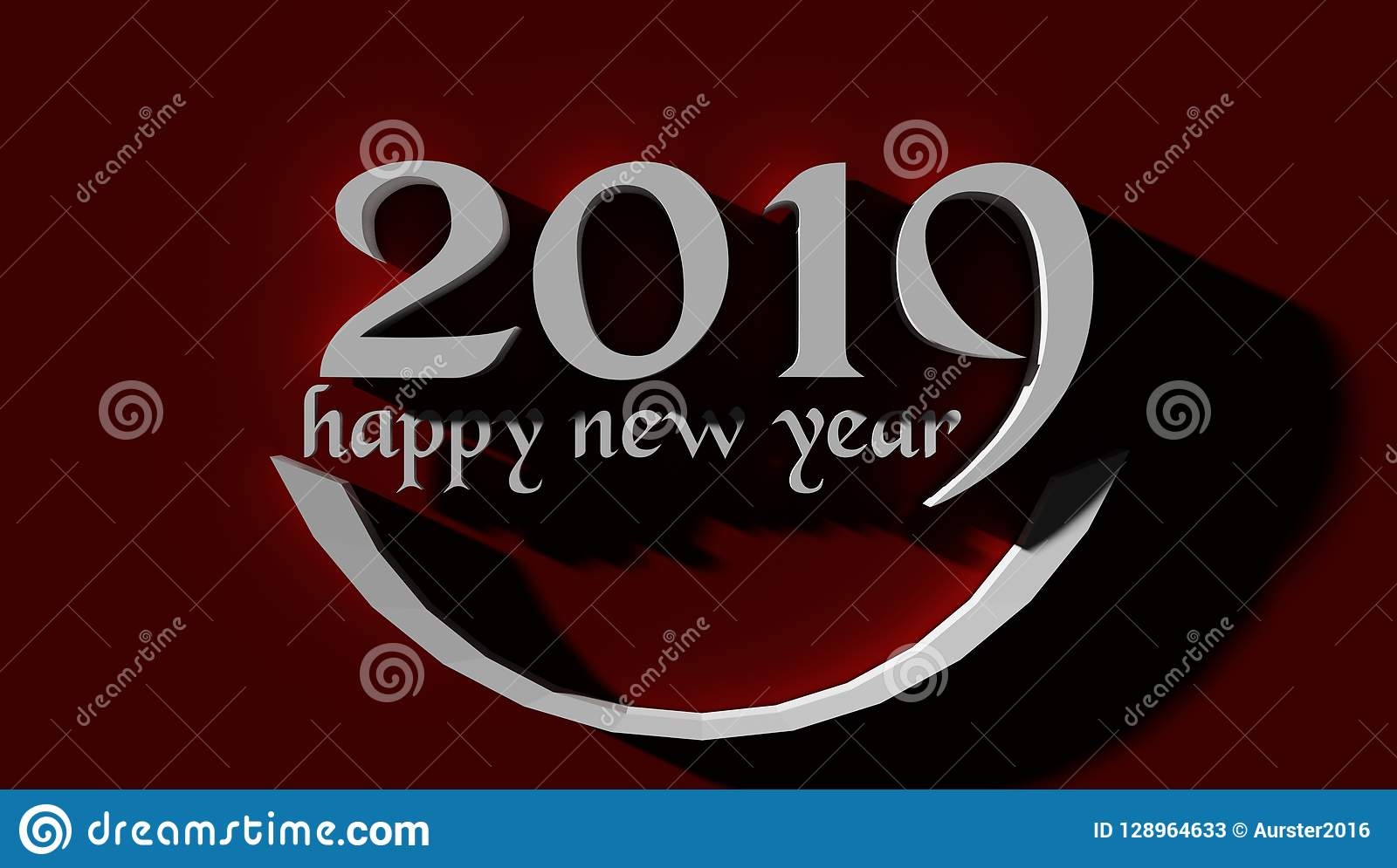 2019 Happy New Year Wallpaper Background Stock Illustration