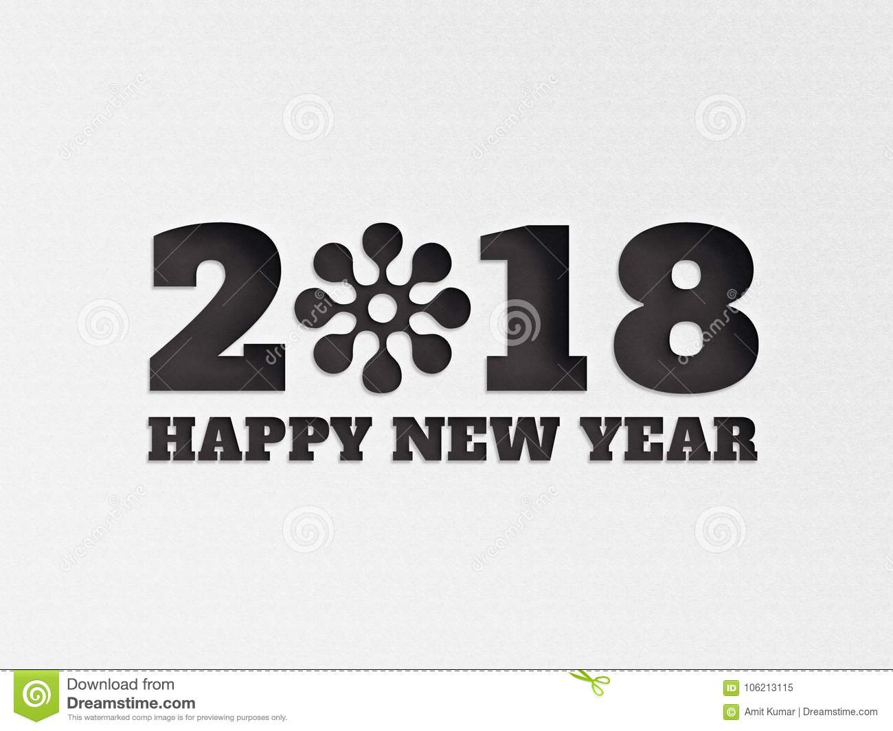 Happy New Year 2018 Wallpaper Banner Background Flower With