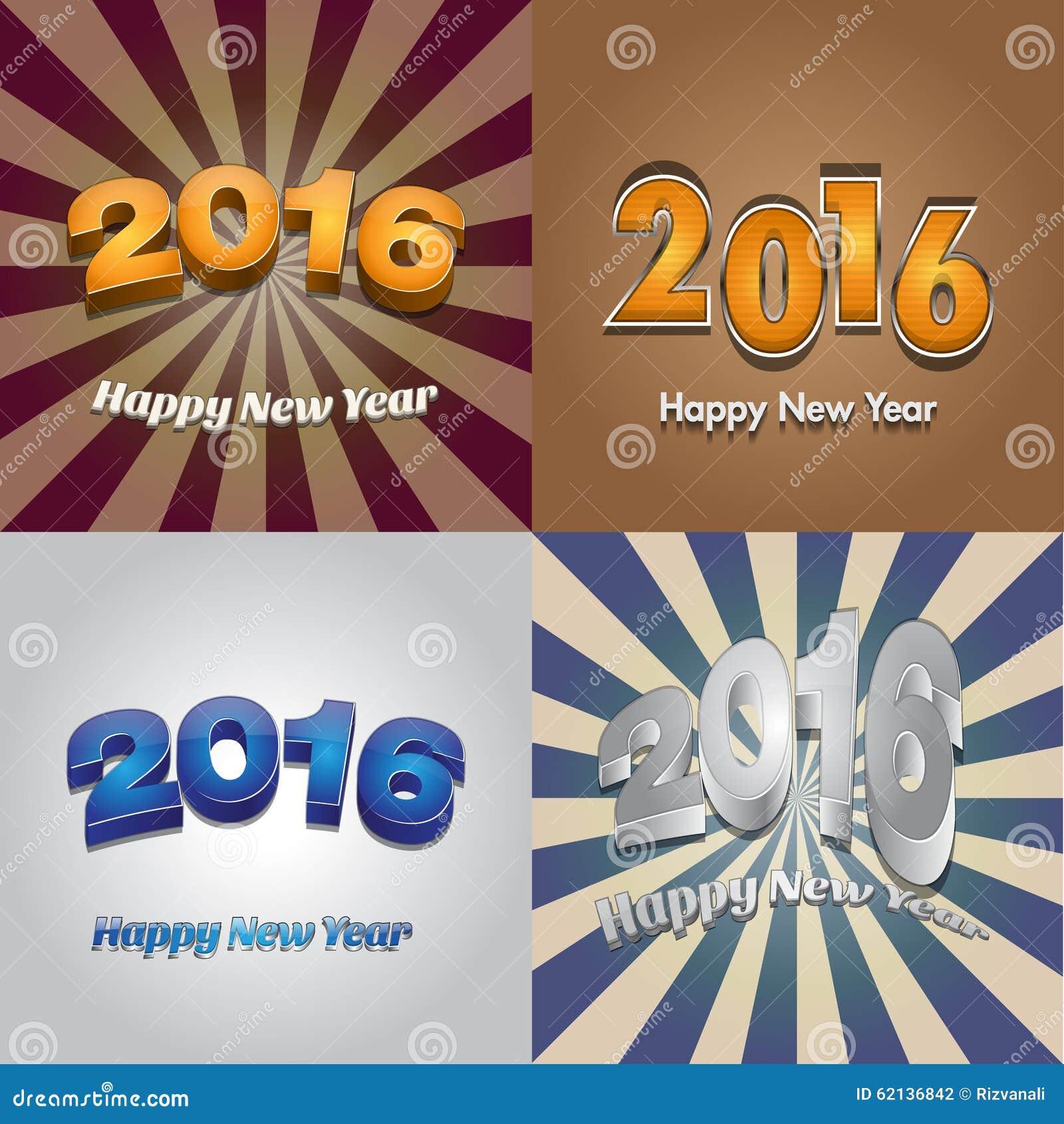Happy new year 2016 wallpaper design stock vector image for New design wallpaper 2016