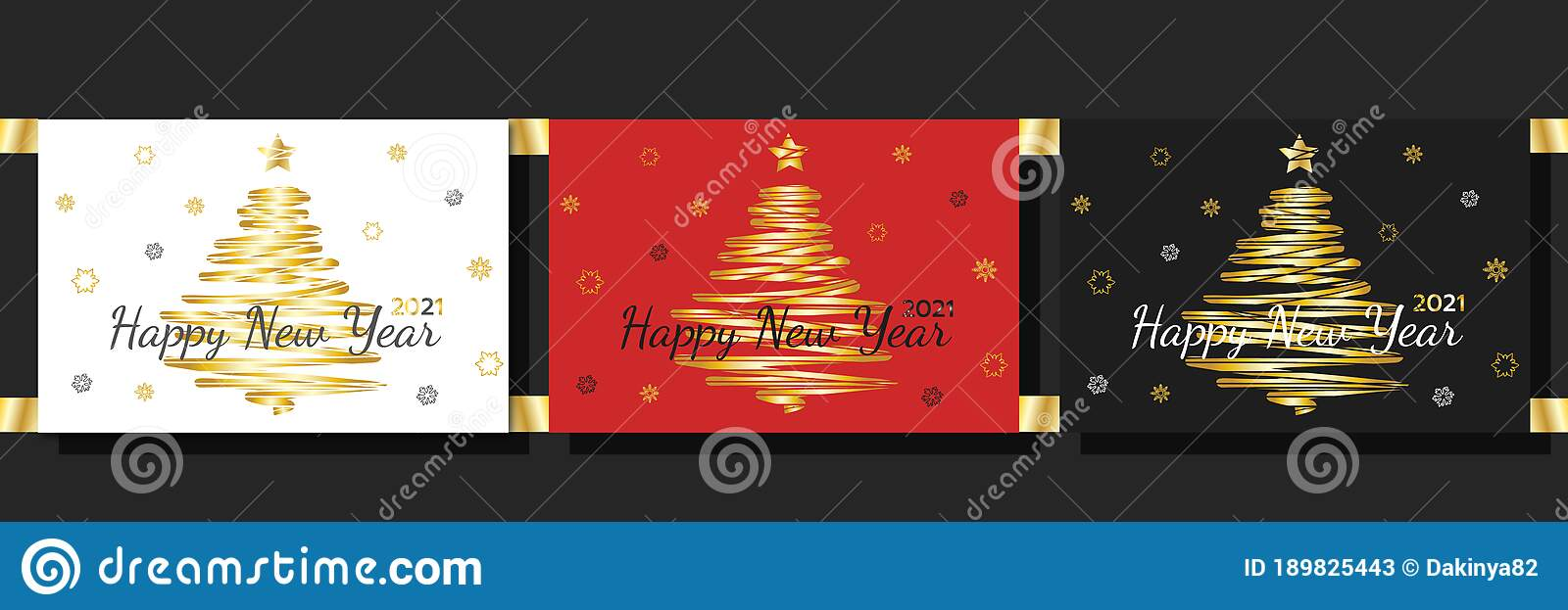 2021 Happy New Year White, Red And Black Greeting Cards ...