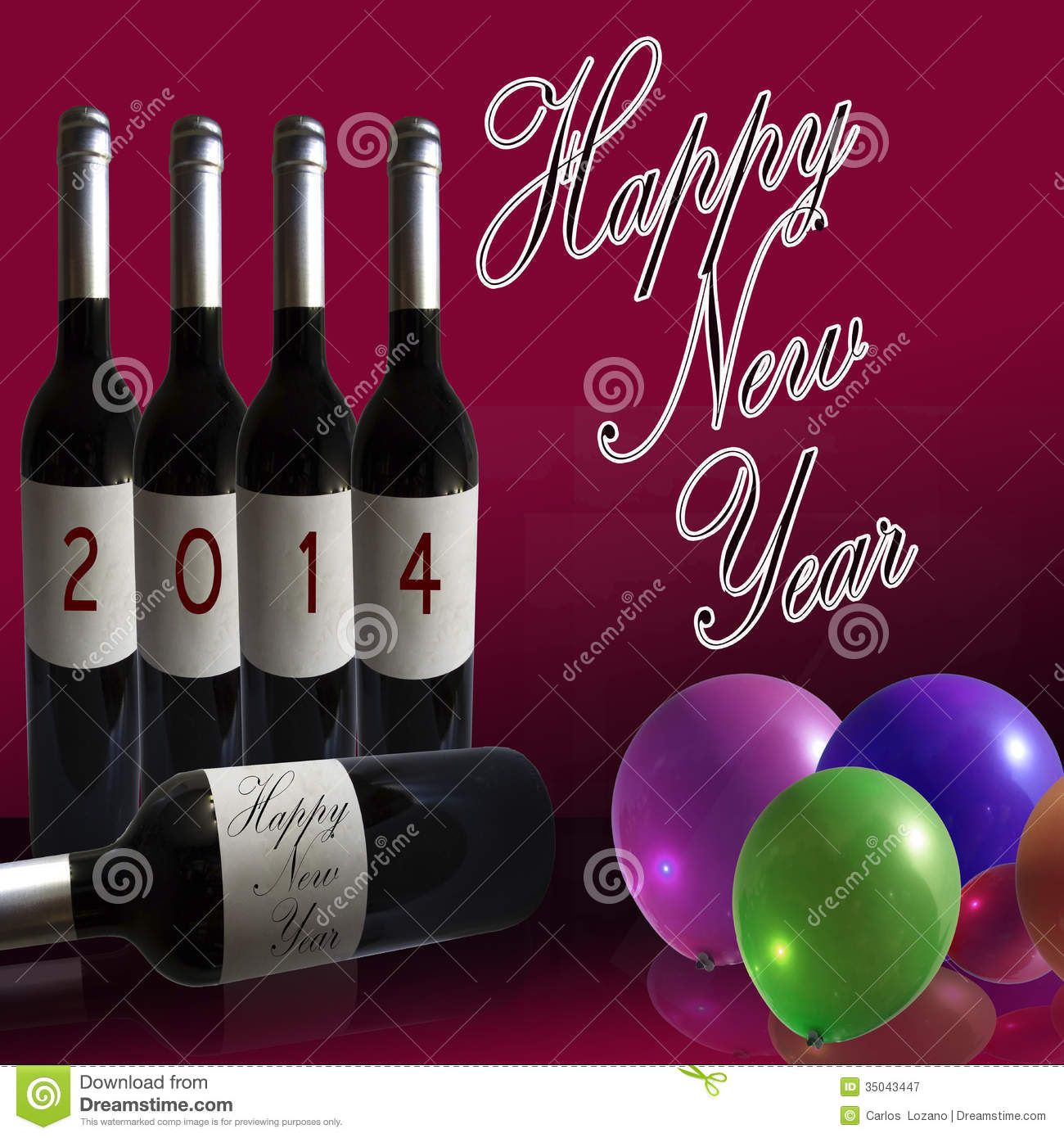 Happy 2014 New Year Stock Illustration Image Of Concepts