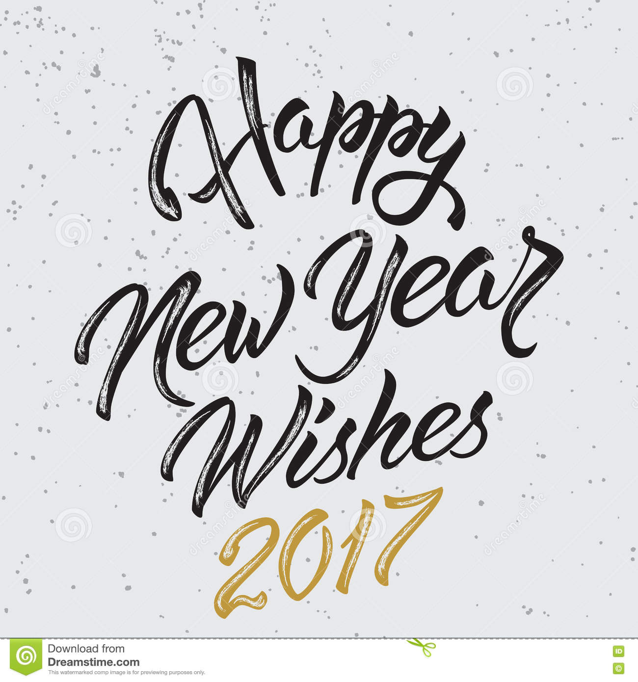 Happy New Year Wishes 2017 stock vector. Illustration of font - 81141571