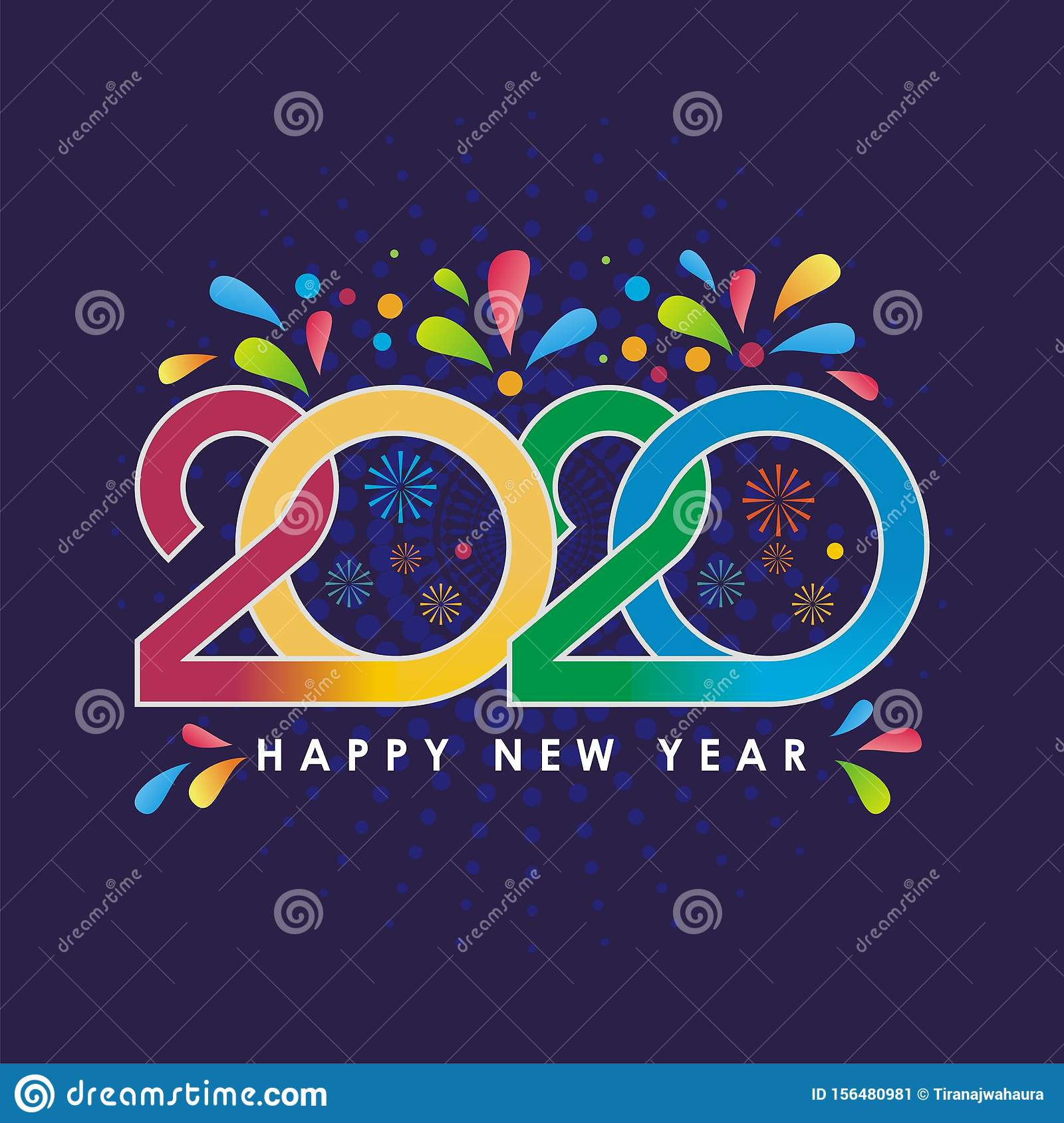 Stylish Happy New Year 2020 Wishes Quotes Messages Stock Vector Illustration Of December Annual 156480981