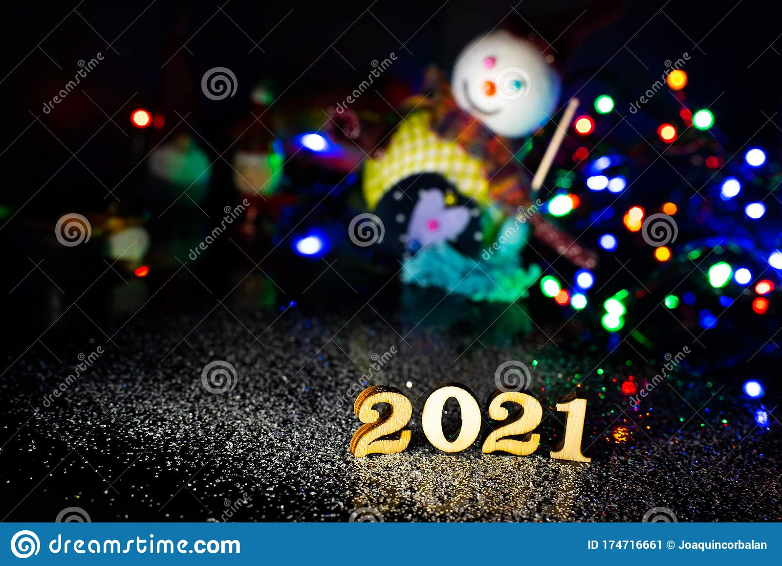 2021 Happy New Year Wood Number Christmas Decoration And ...