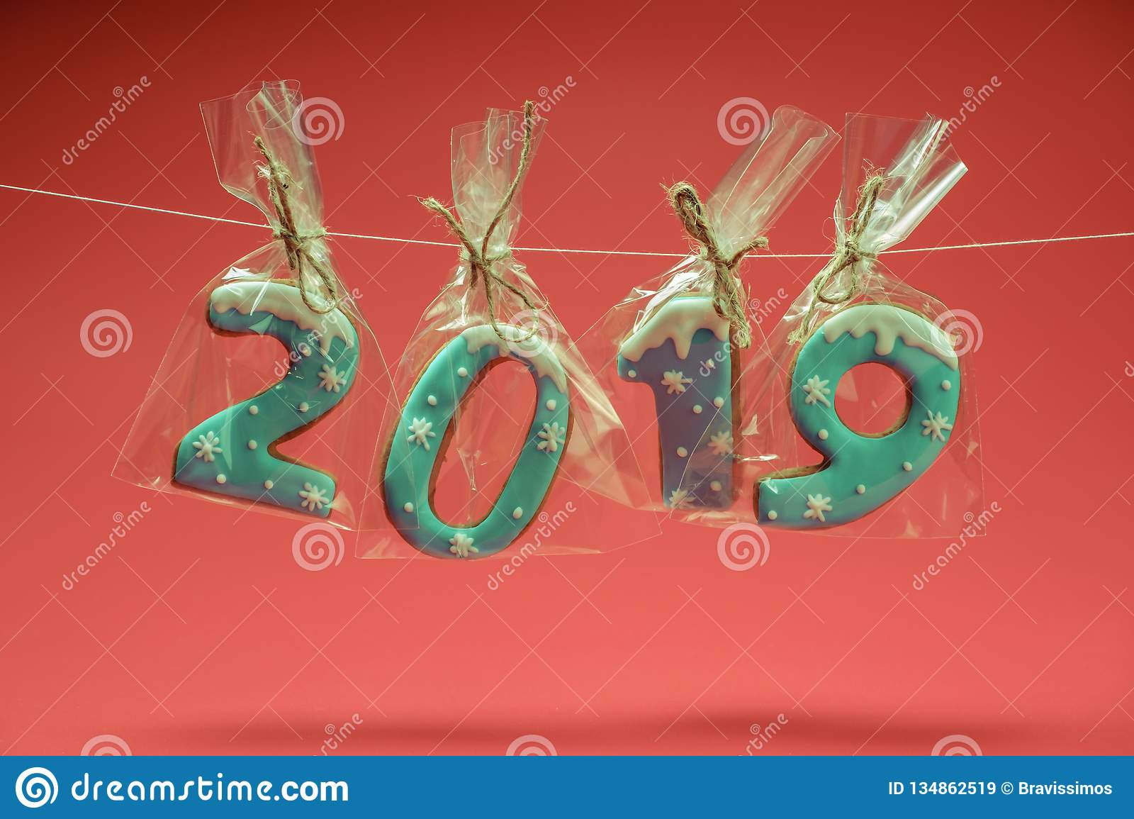 Happy New Year 2019 Letters, Christmas Decorations ...