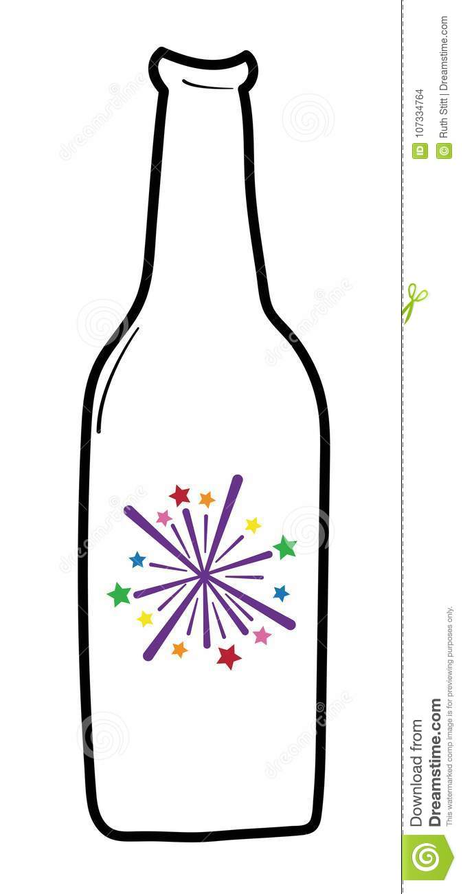 download happy new years firework beer stock vector illustration of firework drinks 107334764