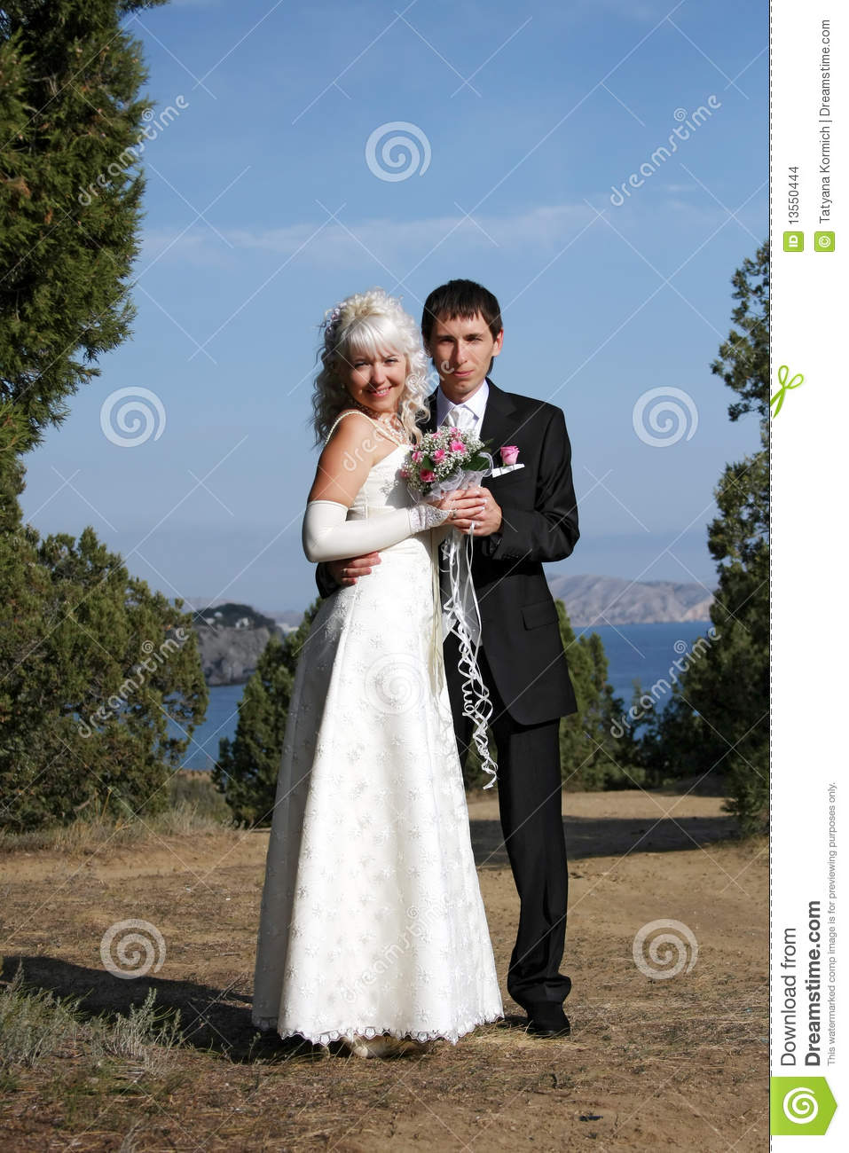 More similar stock images of happy newly married couple