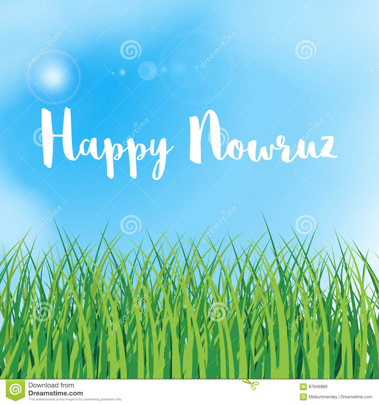 Happy Nowruz Greeting Card Iranian Persian New Year March Equinox