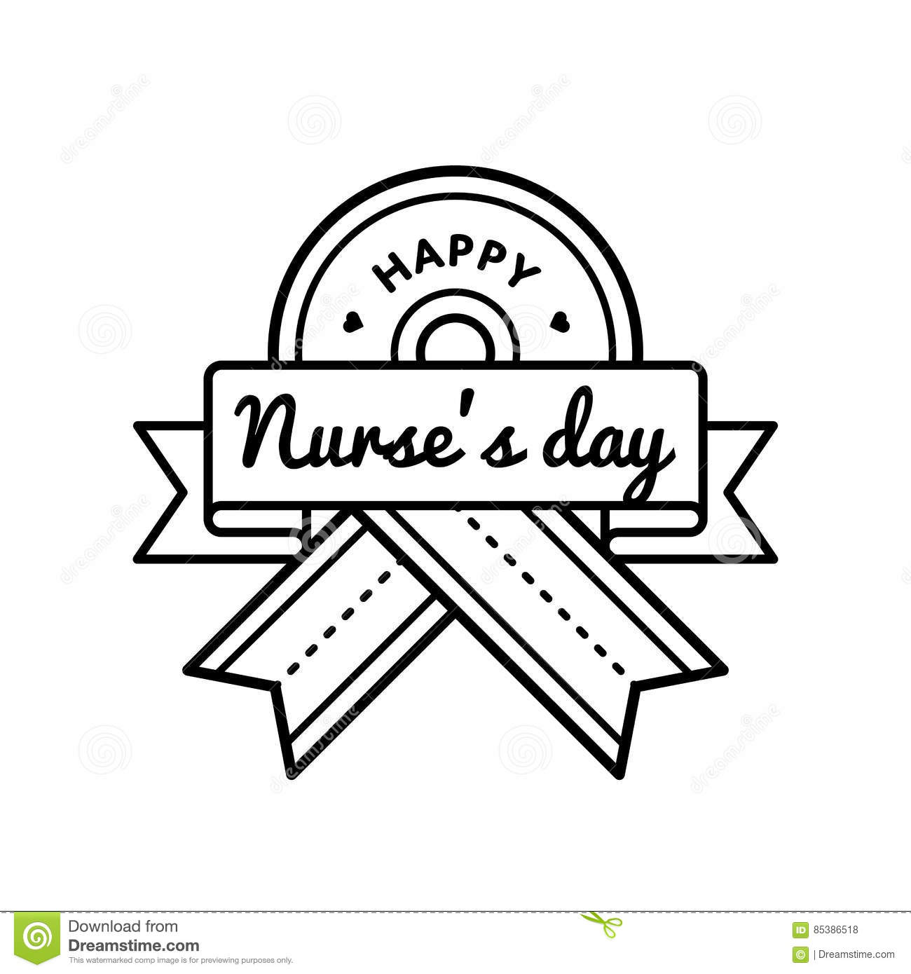Happy nurses day greeting emblem stock vector illustration of card happy nurses day greeting emblem m4hsunfo